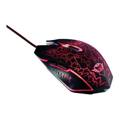 Trust GXT 105 Izza Illuminated Gaming Mouse - Mus - 6 knapper - Sort