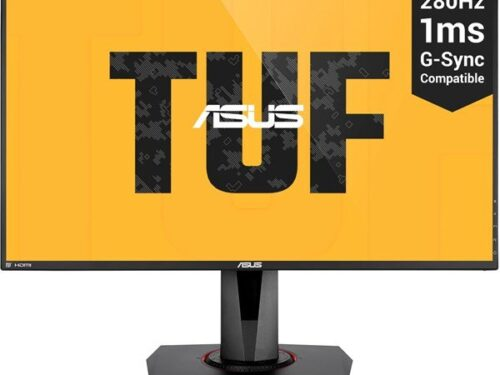 "ASUS 27"" Skærm TUF Gaming VG279QM 280Hz 1ms - Sort - 1 ms NVIDIA G-Sync Compatible"
