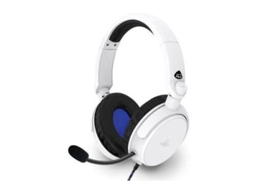 4Gamers PRO50 PS4 Stereo Gaming Headset - White - Headset - Sony PlayStation 4