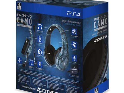 4Gamers PRO70 PS4 Stereo Gaming Headset - Midnight Camo - Headset - Sony PlayStation 4