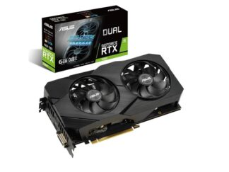 ASUS GeForce RTX 2060 DUAL OC EVO - 6GB GDDR6 RAM - Grafikkort