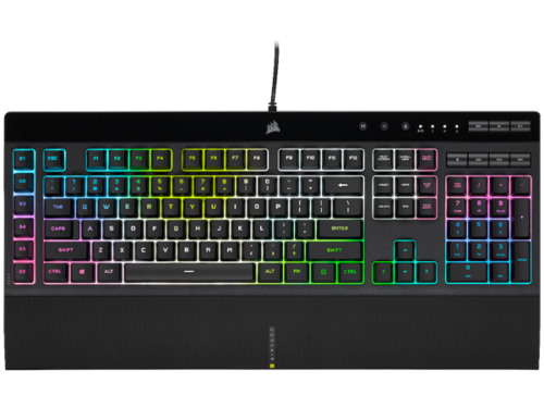 Corsair K55 RGB PRO XT - Gaming Tastatur - Nordisk - Sort