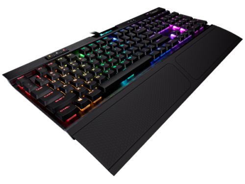 Corsair K70 MK.2 RGB RapidFire - Cherry Low Profile - DE - Gaming Tastatur - Tysk - Sort