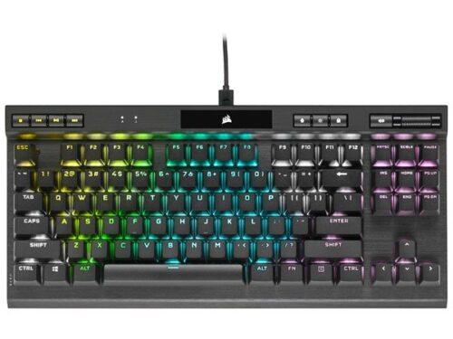 Corsair K70 RGB TKL Champion - MX Red - Gaming Tastatur - Uden Numpad - Engelsk - UK - Sort