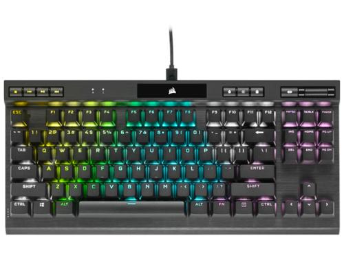 Corsair K70 RGB TKL Champion - MX Red - Gaming Tastatur - Uden Numpad - Nordisk - Sort