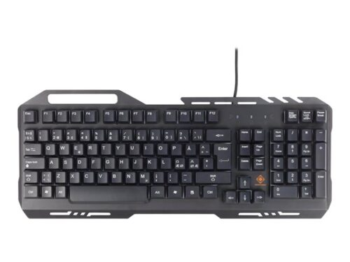 DELTACO RGB Gaming Keyboard Metal Frame - Tastatur - Sort