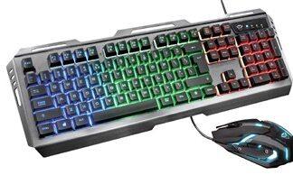 GXT 845 Tural tastatur USB QWERTY Nordisk Sort