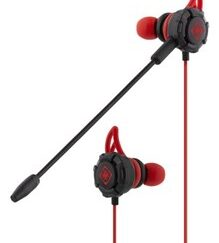 In-ear headset with detachable microphone and earwings