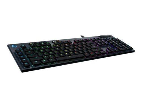 Logitech G815 LIGHTSYNC RGB GL Tactile - US - Gaming Tastatur - Amerikansk engelsk - Sort