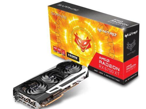 Sapphire Radeon RX 6700 XT Nitro+ - 12GB GDDR6 RAM - Grafikkort