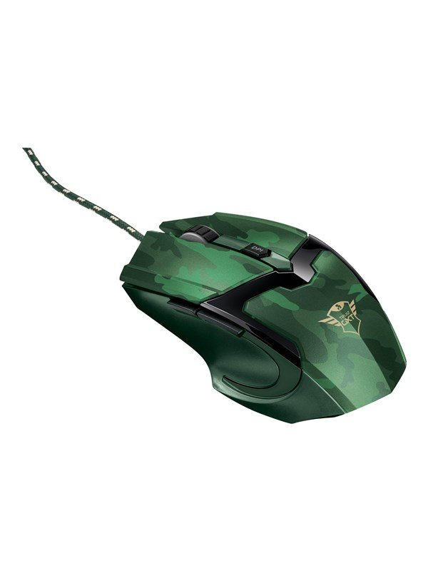 Trust GXT 101D Gav Optical Gaming Mouse - Mus - Optisk - 6 knapper - Grøn