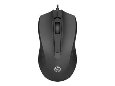 HP 100 - Mus - Optisk - 3 knapper - Sort