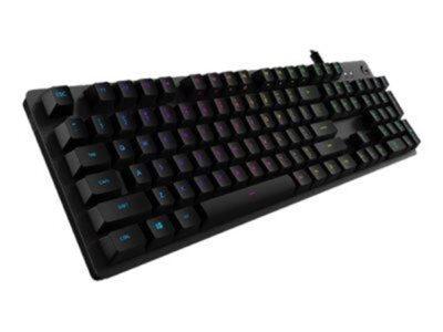 Logitech G512 Carbon GX Blue - ND - Gaming Tastatur - Nordisk - Sort