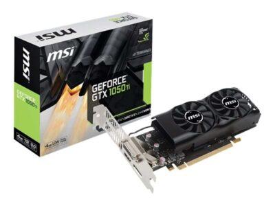 MSI GeForce GTX 1050 Ti Low Profile - 4GB GDDR5 RAM - Grafikkort