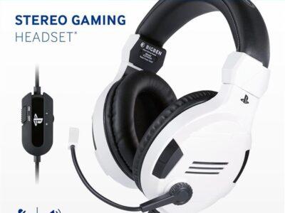 Playstation 4 HW Bigben Stereo Gaming Headset v3 (White)