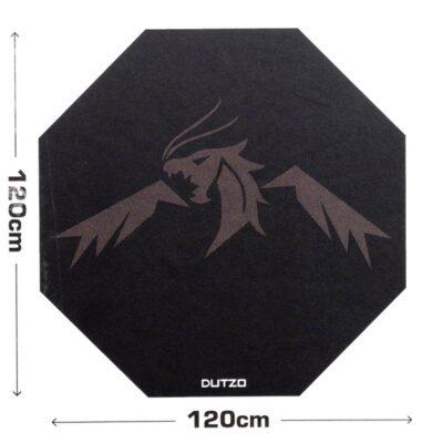 DUTZO Fushi Gaming Floor mat - Sort / Brun -