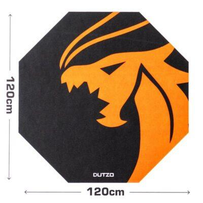 DUTZO Pyro Gaming Floor mat - Sort / Orange -